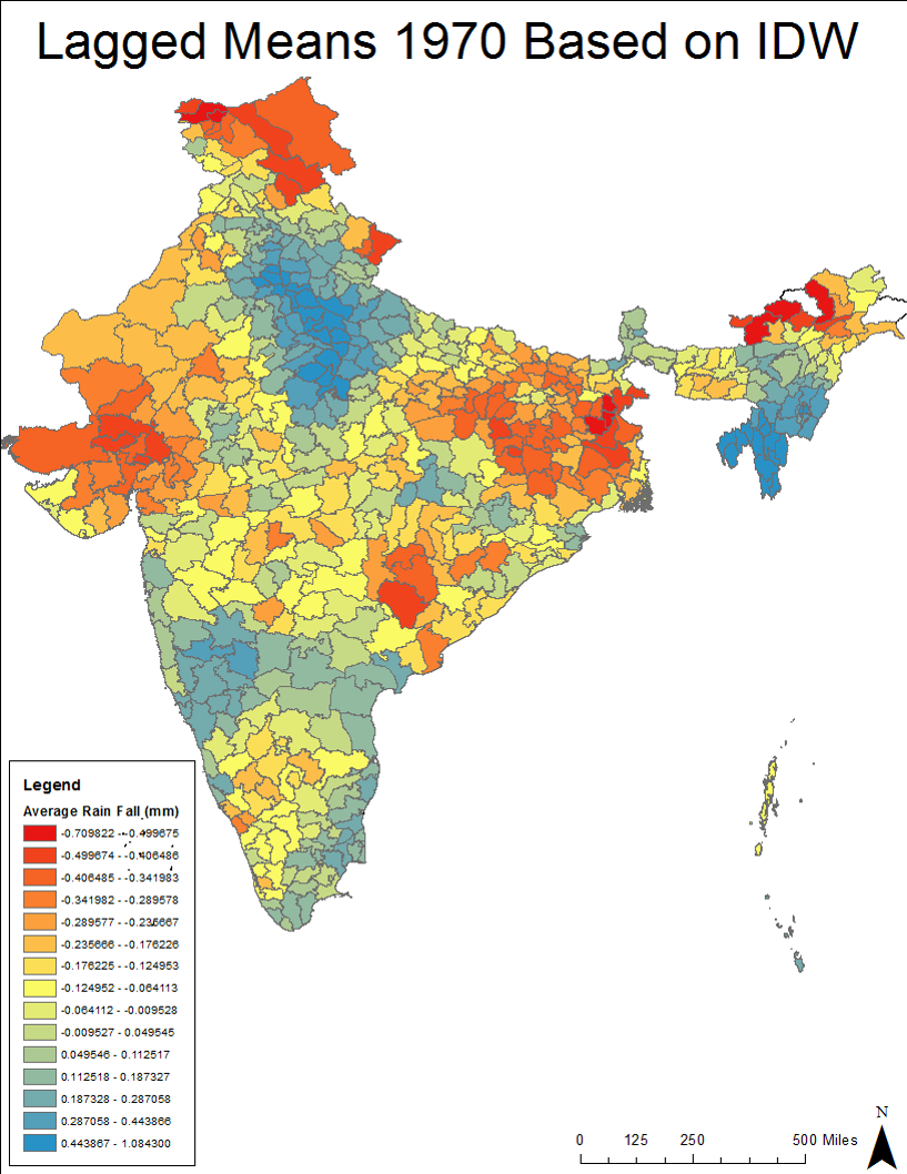 Mapping Rainfall in India